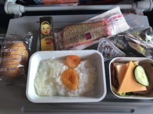 アエロフロートの機内食